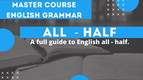 Distributives - all half | English