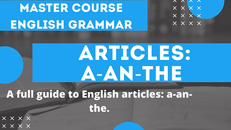 Articles A An The | English