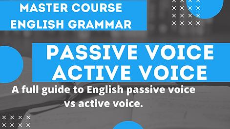 Passive Voice and Active Voice