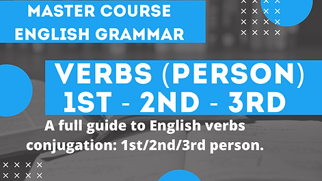 Verb Conjugation 1st 2nd 3rd Person