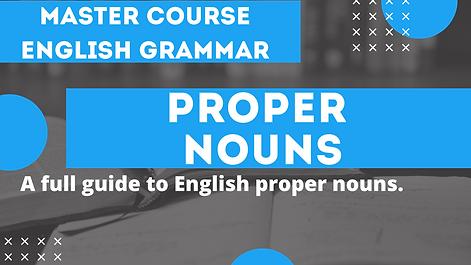 Proper Nouns | English