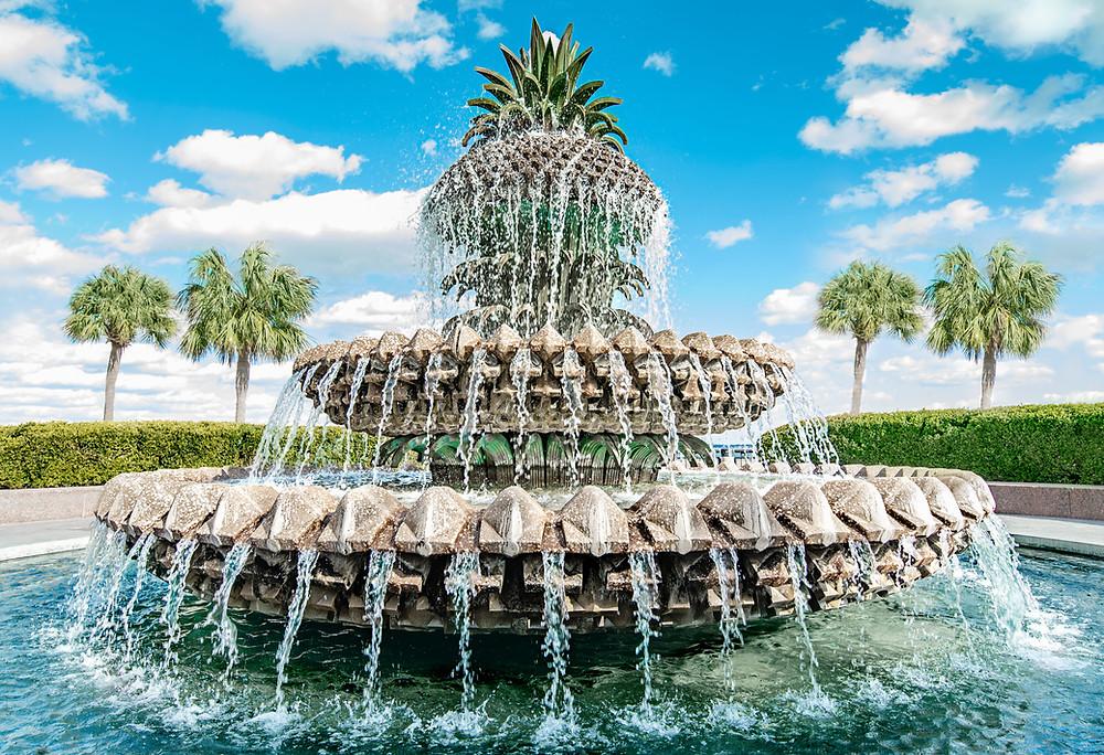 Pineapple Fountain Downtown Charleston SC