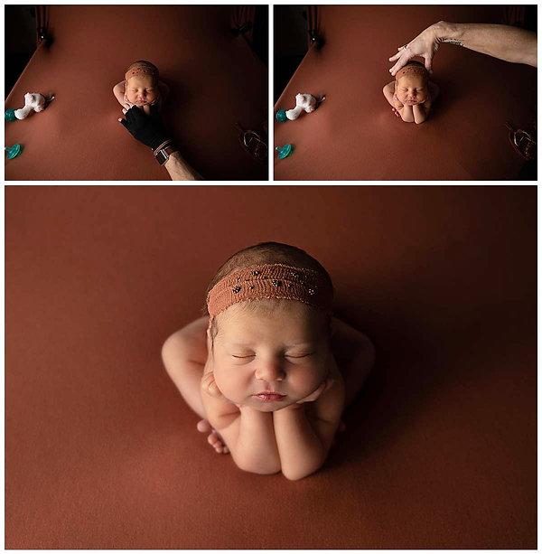 Newborn Froggy Pose Composite - Alisha Cory Photography