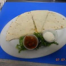 Chicken & Green Chile Quesadilla