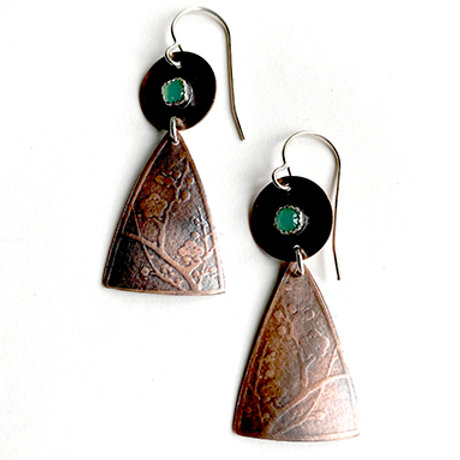 Shield Collection -  Copper with 3mm stone