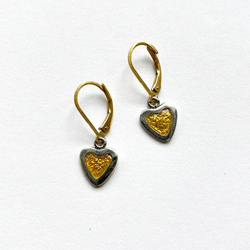 Tiny Gold Heart Post Earrings