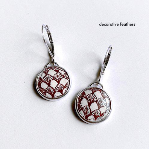 Zentangle Collection - Enamel Short Drop earrings
