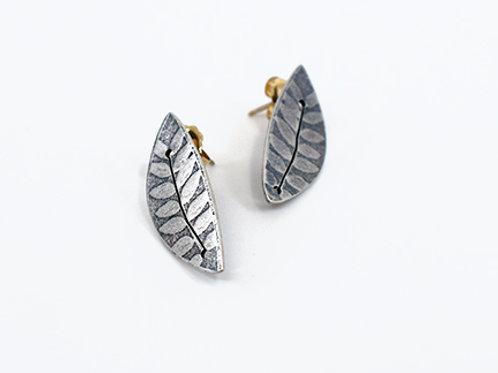 Sterling Silver Leaf post earrings