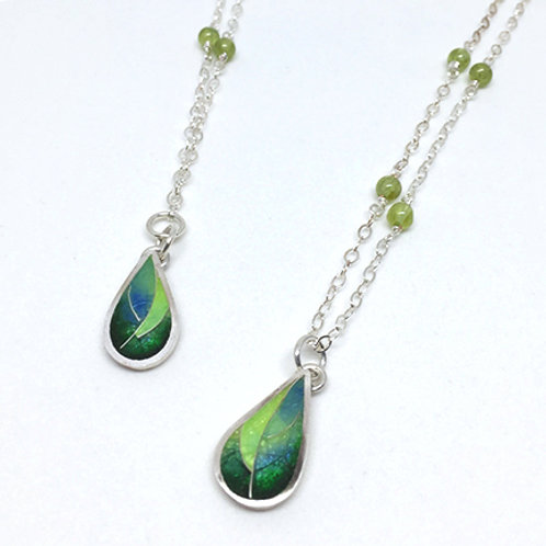 Leaf Cloisonne Necklace