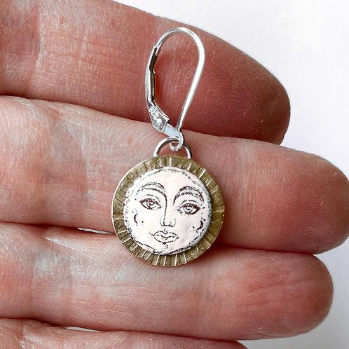 Moon/Sun Face Earrings