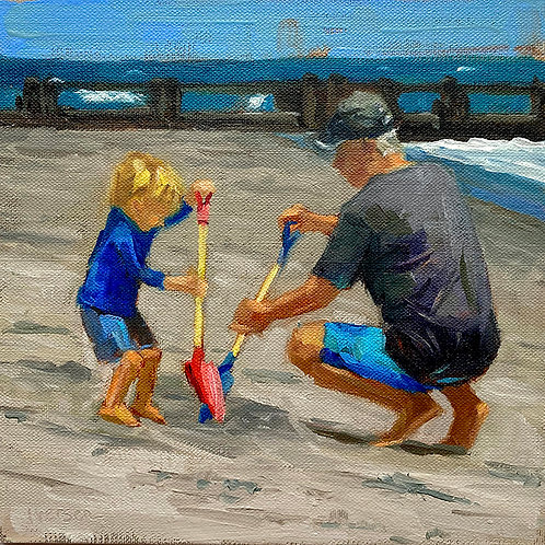 Digging with Grandpa