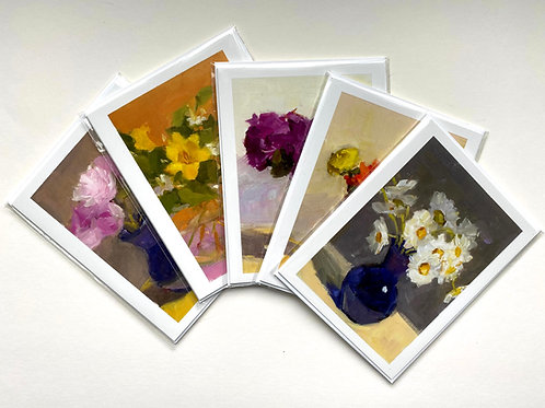 From my Garden Series, Set of 5 blank notecards