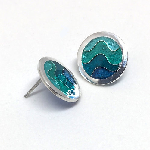 Sea Wave Post Earrings