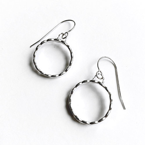 Pebble Sterling Silver Small Circles