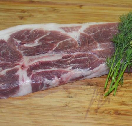 mangalitsa pork shoulder steak
