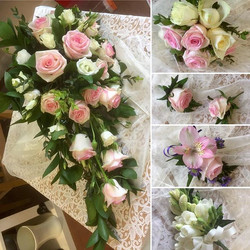 Bridal flowers from a recent wedding