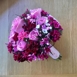 Today's bride's bouquet- sweet Williams