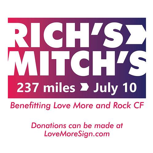 Rich's --> Mitch's Donation