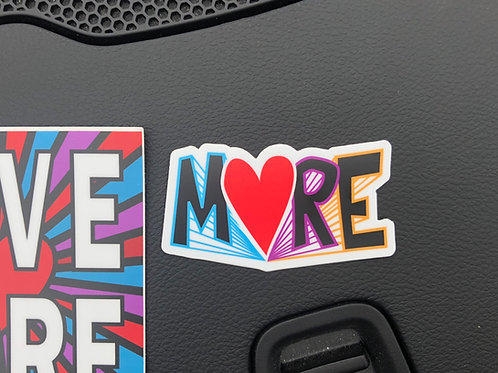 MORE car sticker