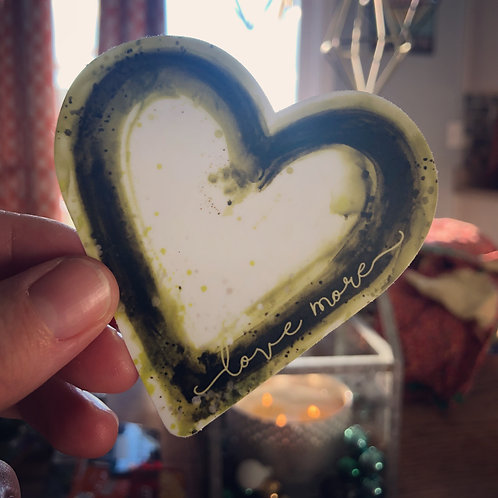 green heart car sticker