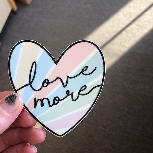 Faded Heart Sticker