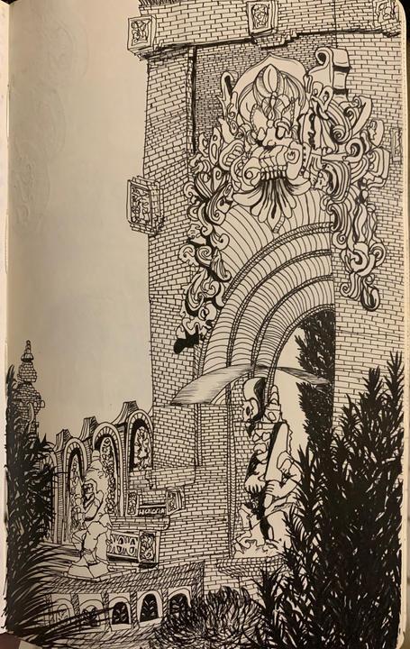 Micron pen on Moleskine paper