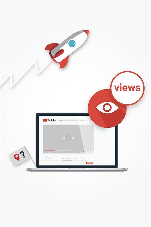 YouTube Views – Land selber wählbar
