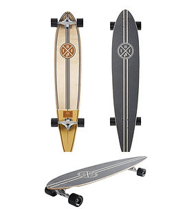 Medallion Pintail longboard triple image