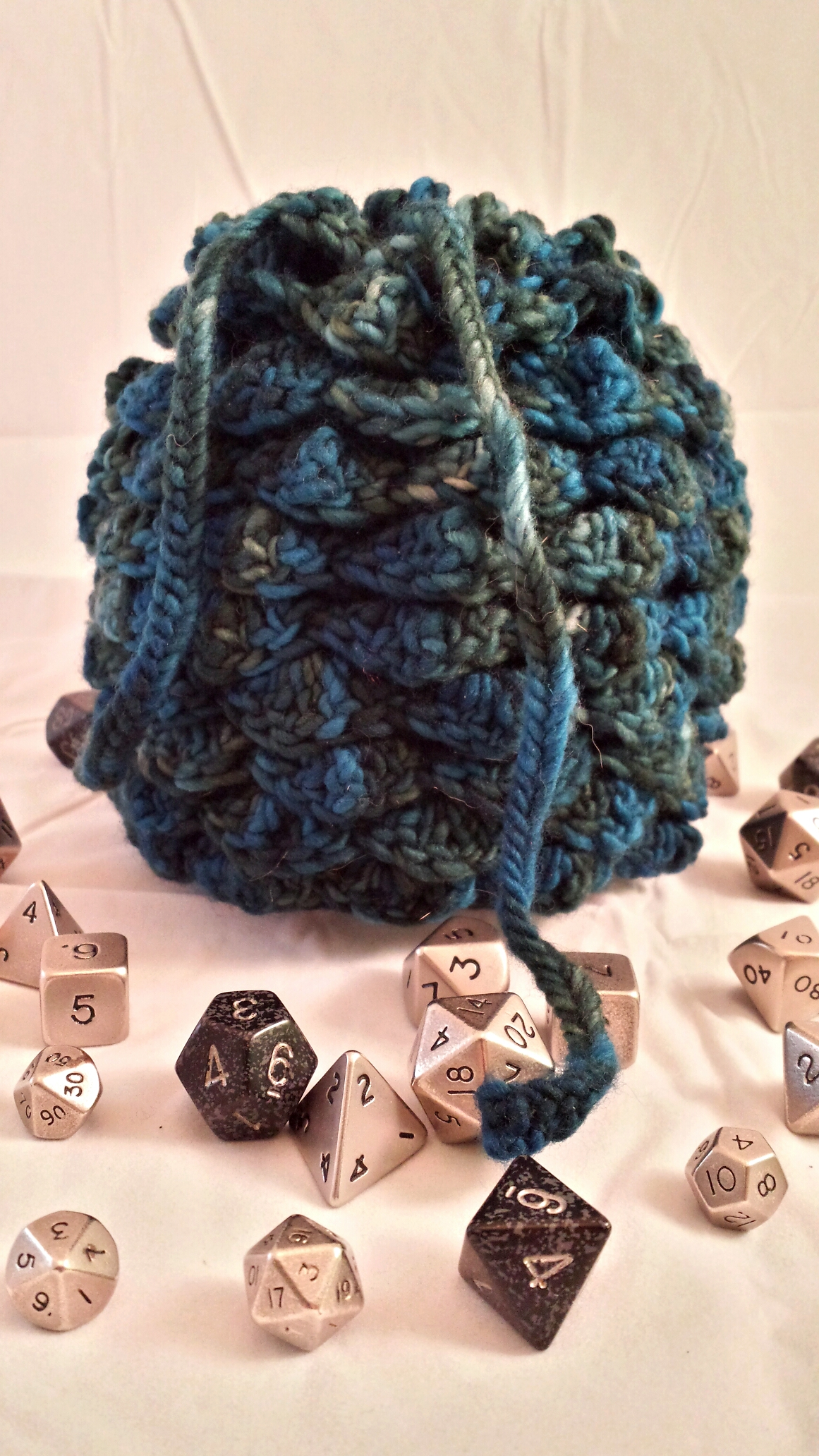 Dragon scale dice bag