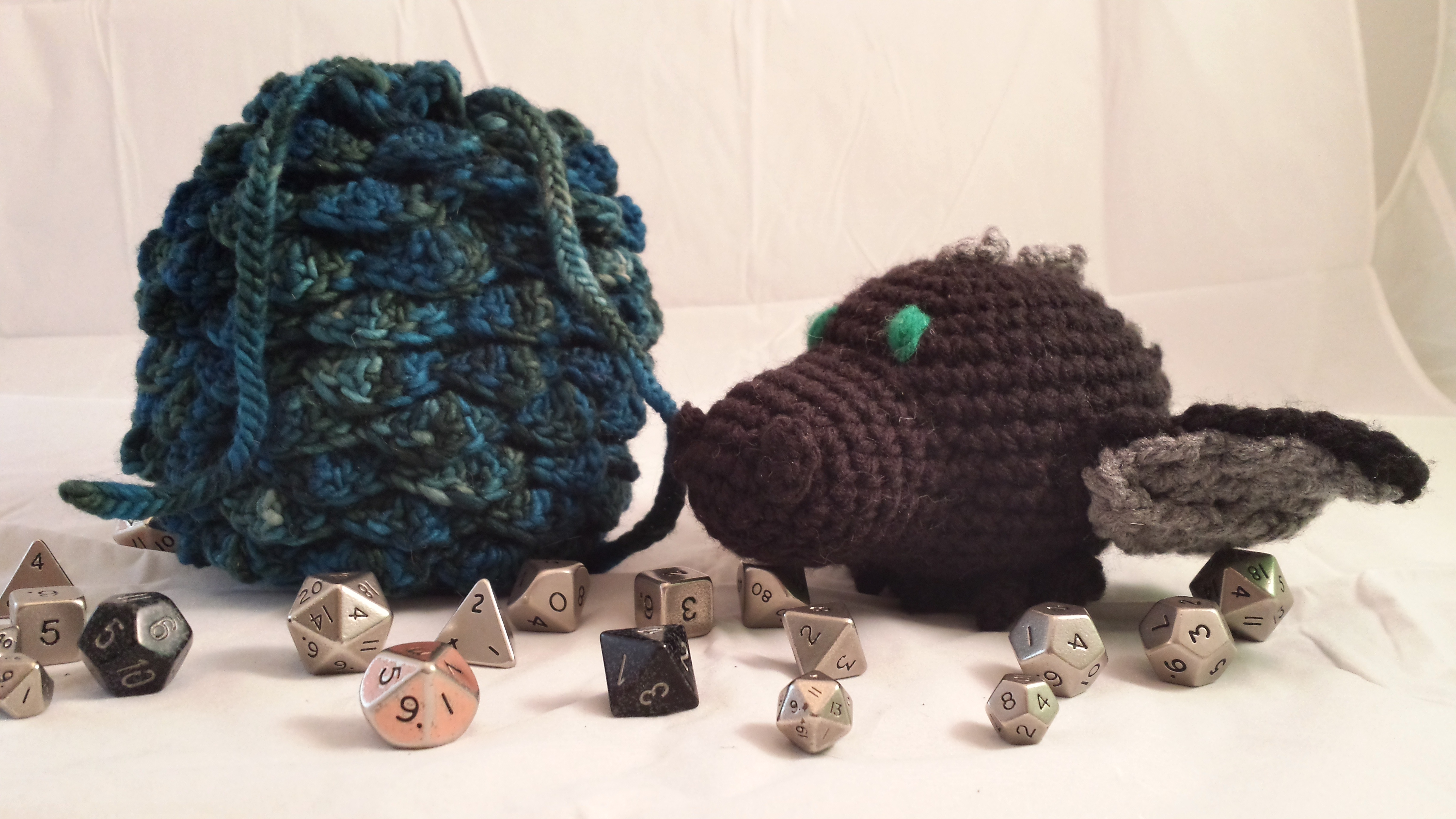 Dragon Hatchlyng and Dice Bag