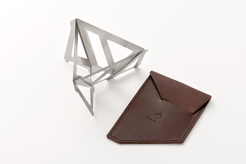 Tetra Drip (stainless steel, small, with leather pouch) [TD-01SL]