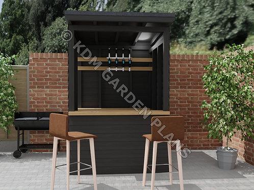 Small Home Garden Bar 1.5mx1.5m Tiki BBQ Pub (Build Plans Only No Materials)
