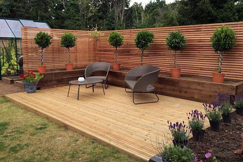 Outdoor Timber Garden Decking Build Plans Do It Yourself 3.6m x 4.8m