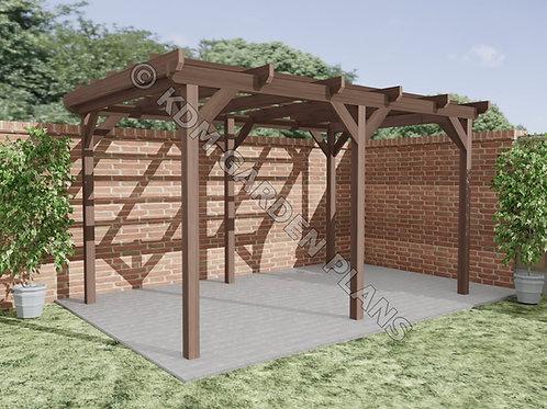 Wooden Garden Pergola 2.5m x 4m Build Plans Do It Yourself Plans