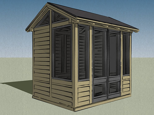 Outdoor Wooden Summer House Build Plans Do It Yourself 2.5x2m Garden Office