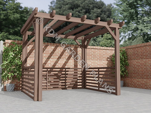 Wooden Garden Pergola 3mx2.5m DIY (Build Plans Only No Materl