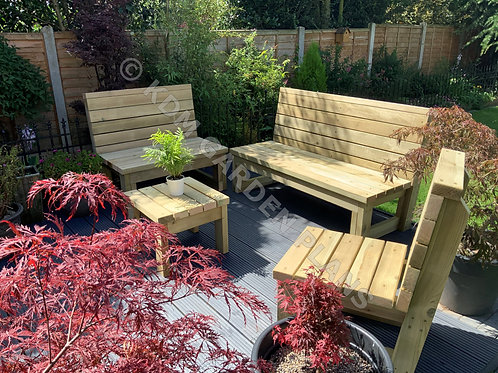 Outdoor Garden Patio Furniture Build Plans Do It Yourself 1/2/3 Seat and Table