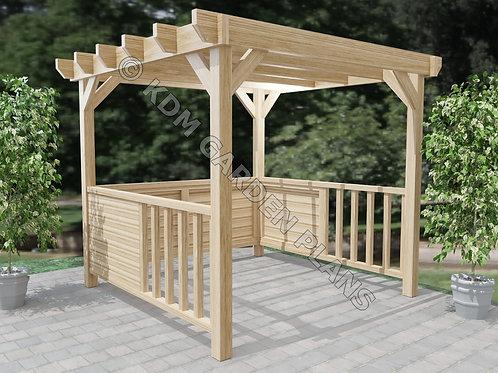 Wooden Garden Panelled Gazebo Build Plans Do It Yourself Woodwork Instructions