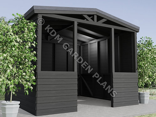 Hot Tub Shelter 3mx3m with Pitched Roof Lazy Spa (Build Plans Only No Materials)