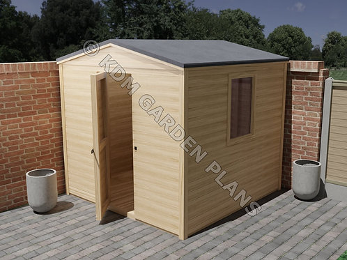 Outdoor Wooden Garden Shed Build Plans Do It Yourself 2.4 x 2.4m Workshop