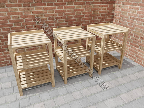 Modular Wooden Greenhouse Staging Bench Build Plans Do It Yourself Instructions