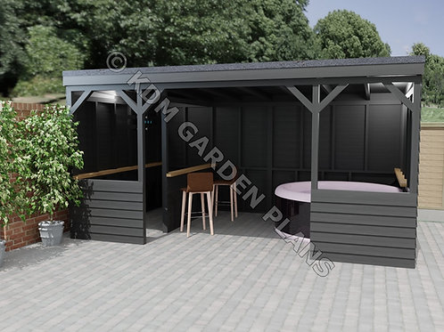 Spa Shelter / Home Bar 3.0mx4.8m Pub (Build Plans Only No Materials)