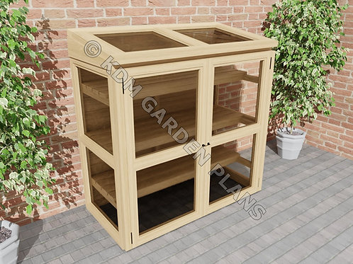 Small Wooden Lean To Greenhouse 2.5 x 5 ft (Build Plans Only No Materials)