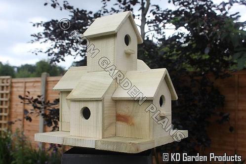 Wooden Garden Bird House Build Plans Do It Yourself Woodwork Instructions