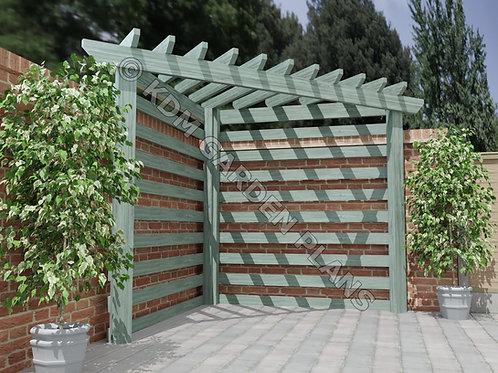 Wooden Garden Corner Pergola Build Plans Do It Yourself Woodwork Instructions