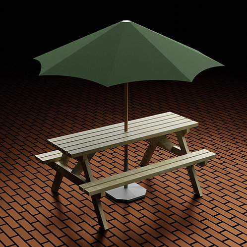 Outdoor Bar Picnic Table Garden Patio Furniture Build Plans Do It Yourself Pub