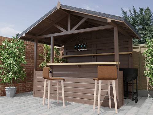 Outdoor Garden Bar / Barbeque Build Plans Do It Yourself Cocktail Gin Bar BBQ