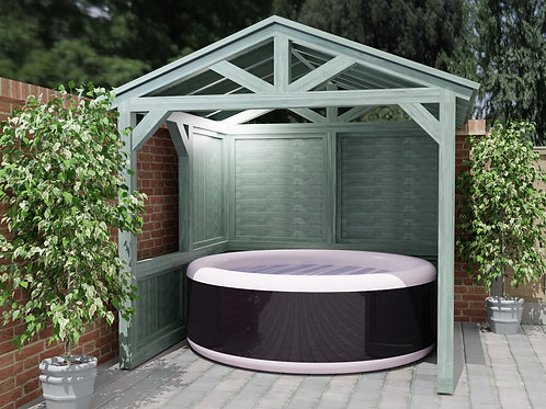 Outdoor Garden Spa or Hot Tub Shelter Build Plans Do It Yourself Lazy Spa etc