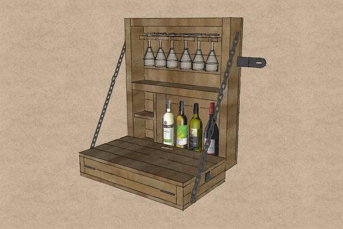 Outdoor Garden Wall Mounted Bar Build Plans Do It Yourself Cocktail Gin Bar