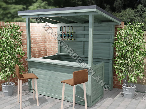 Outdoor Garden Bar Build Plans Do It Yourself Cocktail Gin Tiki Bar BBQ